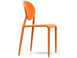 Designer Stuhl Gio stapelbar orange 9703 von Scab Design