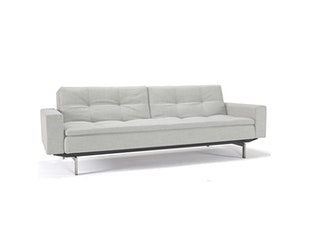 Schlafsofa Dublexo Chrome mit Armlehnen 527 Mixed Dance natur n-8435-5929 von Innovation