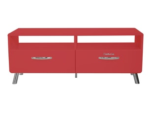 TV Regal Cobra mit 2 Schubladen rot n-8798-6689 von msp furniture
