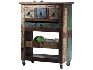 k chenwagen glace shabby chic 3 schubladen sit m bel. Black Bedroom Furniture Sets. Home Design Ideas
