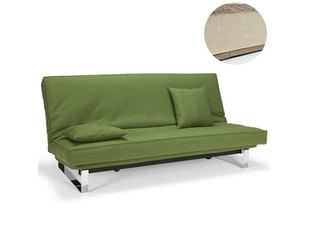 Schlafsofa Minimum mit Chromkufen Latex Sharp Cover n-8559 von Innovation