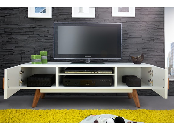 Interior Home Tv-Lowboard Rusher 120 cm weiß n-9357 - 4
