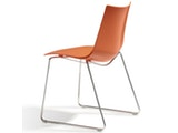 Scab Design Designer orange Stuhl Zebra Technopolymer Sledge 10981 Miniaturansicht - 2