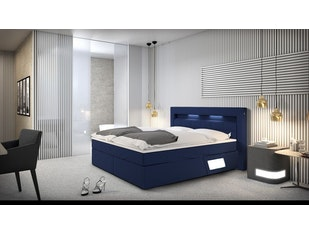 boxspringbett dalian 180x200 cm blau. Black Bedroom Furniture Sets. Home Design Ideas