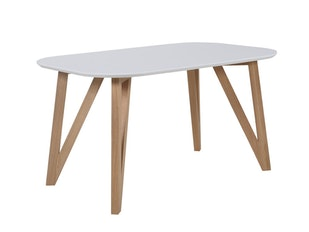 Esstisch Weiß Mit Belastbaren Holzbeinen 140x90 Cm Aino N 1072 7667 Von  SalesFever