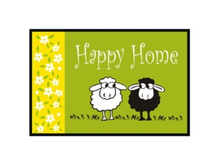 Fußmatte 60x40 cm Happy Sheep 9118 von Eurographics