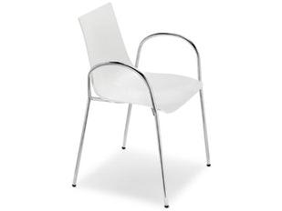 Designer Stuhl Zebra Technopolymer 4 Legs Mit Armlehnen Linen 10970 Von  Scab Design
