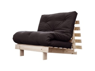 Schlafsofa anthrazit Roots Raw Holz Sessel 90 cm n-7076-4584 von Karup