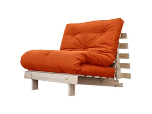 Schlafsofa orange Roots Raw Holz Sessel 90 cm n-7076-4586 von Karup