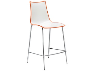 Barhocker Zebra Bicolore H.65 weiß/orange n-7864-5178 von Scab Design