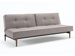 Schlafsofa Splitback Styletto Dark 216 Flashtex dunkelgrau n-8386-5710 von Innovation