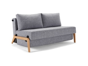 Schlafsofa 565 Twist granit Cubed Wood 140 n-8498-6090 von Innovation