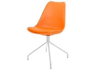 Designer orange Stuhl Ego Gina Beine weiß 2er Set n-8688-6263 von msp furniture