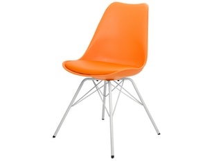 Designer Stuhl Porgy Gina Beine weiß 2er Set orange n-8732-6417 von msp furniture