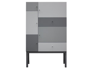 Highboard Color 5 Türen 2 Schubladen grau Mix n-8800-6696 von msp furniture