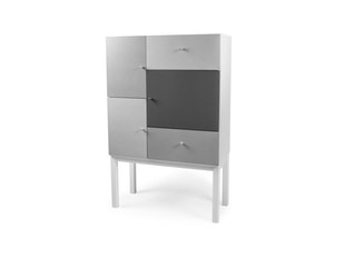 Kommode Color 3 Türen 2 Schubladen weiß/grau Mix n-8801-6697 von msp furniture