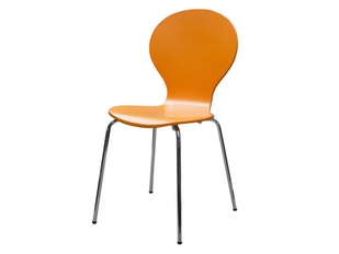 Stuhl orange Flower mit Chrombeinen 13042 von msp furniture
