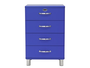 Kommode royalblau Malibu 60 mit 4 Schubladen n-8812-6782 von msp furniture
