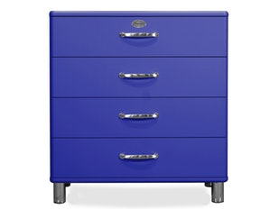 Kommode royalblau Malibu 86 mit 4 Schubladen n-8814-6797 von msp furniture