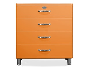 Kommode orange Malibu 86 mit 4 Schubladen n-8814-6800 von msp furniture
