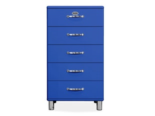 Kommode royalblau Malibu 60 mit 5 Schubladen n-8823-6815 von msp furniture