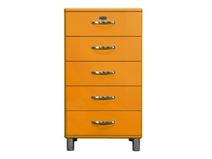 Kommode orange Malibu 60 mit 5 Schubladen n-8823-6821 von msp furniture