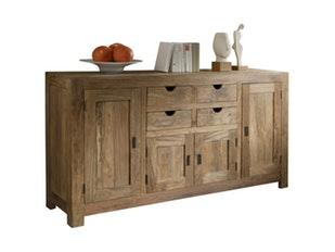 sideboard basiq wei hochglanz salesfever. Black Bedroom Furniture Sets. Home Design Ideas