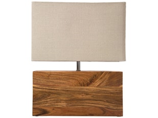 Tischlampe Rectangular Wood Nature n-7331 von KARE Design