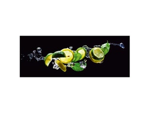 Glasbild Fresh Lime Diving 80x30cm n-7634 von Eurographics