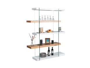 Regal Zeus 180cm Glas-Eiche n-9287 von Interior Home