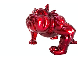 Deko Figur red Bulldoge  n-9401 von Interior Home