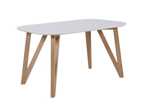 SalesFever Esstisch Weiß Holz Stabile Beine Tisch 140x90 Cm Aino  N 1072 7667