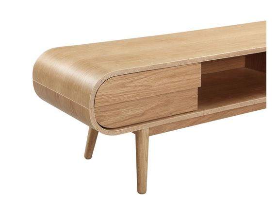 vintage style tv lowboard mit holzbeinen holz eiche anniki salesfever. Black Bedroom Furniture Sets. Home Design Ideas