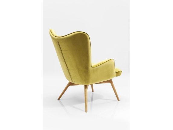 sessel vicky mit samt stoff gr n. Black Bedroom Furniture Sets. Home Design Ideas