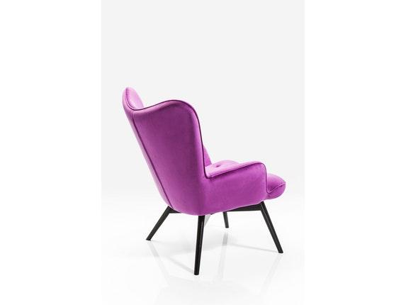 Sessel vicky mit samt stoff purple for Sessel petrol samt