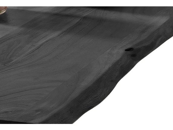 SalesFever Esstisch 160 X 85 Cm Massivholz Baumtisch Akazie Grau 36 Mm  Stärke Tischbeine Schwarz Mason