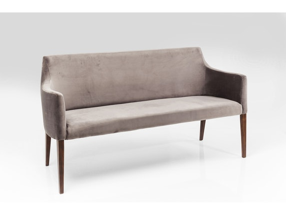 Polsterbank esszimmer sitzbank mode velvet grey by kare design for Polsterbanke esszimmer