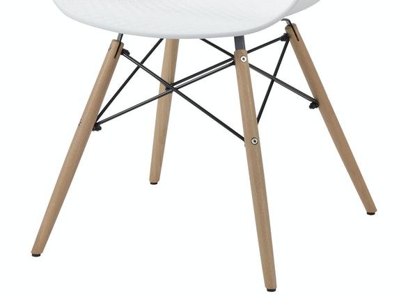 Esszimmerstuhl schalenstuhl mit armlehnen wei gabriele for Esszimmerstuhl weiss mit armlehne