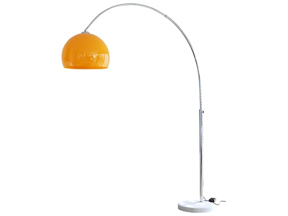 SalesFever Bogenlampe Big Deal mit Marmorfuß orange 1446 - 1