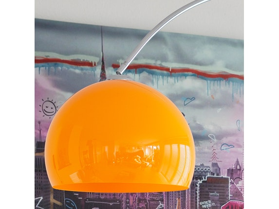 SalesFever Bogenlampe Big Deal mit Marmorfuß orange 1446 - 4
