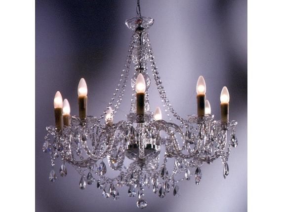 Kronleuchter 9-flammig Kristall » SalesFever.de