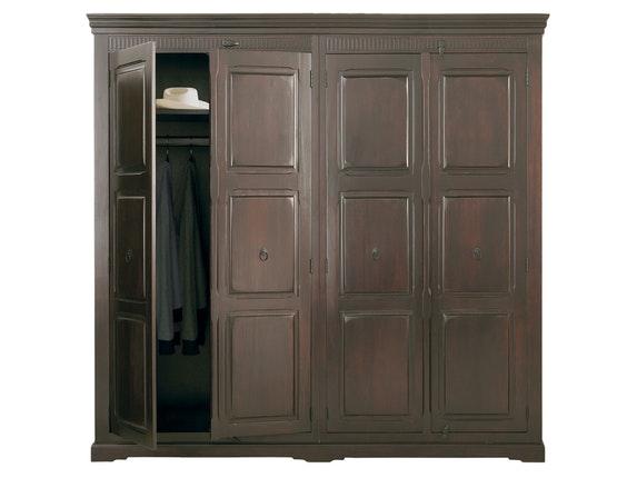 kleiderschrank cabana pappel massivholz 4 t ren kare design. Black Bedroom Furniture Sets. Home Design Ideas