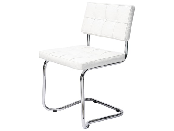 Freischwinger stuhl expo shiny croco wei kare design for Design stuhl freischwinger