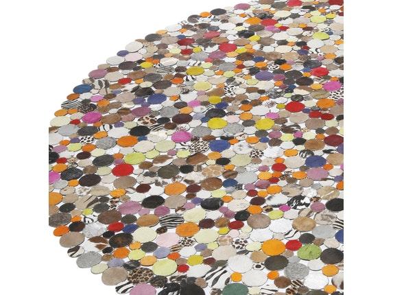 teppich circle multi im tierfell look rund 250 cm kare. Black Bedroom Furniture Sets. Home Design Ideas