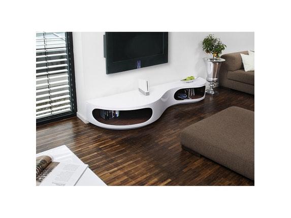 lowboard tchouc hochglanz design wei walnuss salesfever. Black Bedroom Furniture Sets. Home Design Ideas
