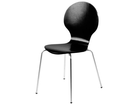 Stuhl Klassiker im 4er Set stapelbar schwarz Synoun