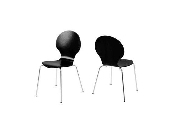 stuhl klassiker im 4er set stapelbar schwarz synoun. Black Bedroom Furniture Sets. Home Design Ideas