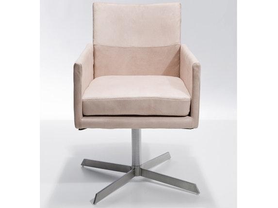 Stuhl dialog drehbar mit armlehnen creme kare design for Stuhl kare design