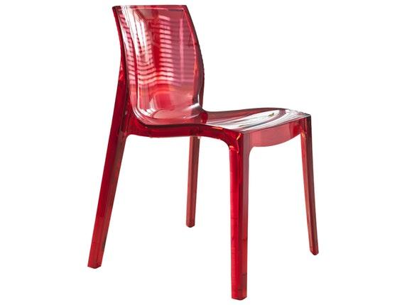 designer stuhl sari aus kunststoff rot transparent salesfever. Black Bedroom Furniture Sets. Home Design Ideas