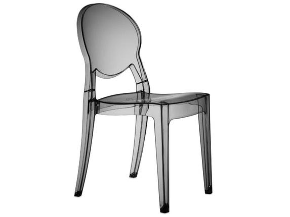 designer stuhl igloo aus kunststoff anthrazit transparent salesfever. Black Bedroom Furniture Sets. Home Design Ideas